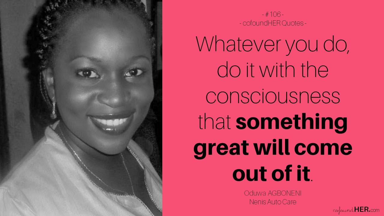 Cofoundher interviews oduwa agboneni of nenis auto care for Auto entrepreneur paysagiste 2015
